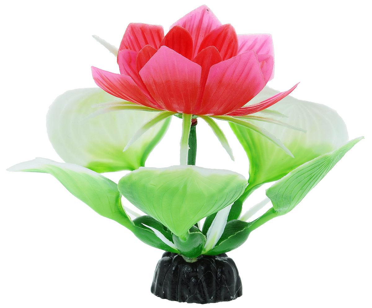 Растение для аквариума Barbus Кувшинка с цветком, пластиковое, высота 10 см растение для аквариума barbus амбулия пластиковое высота 20 см
