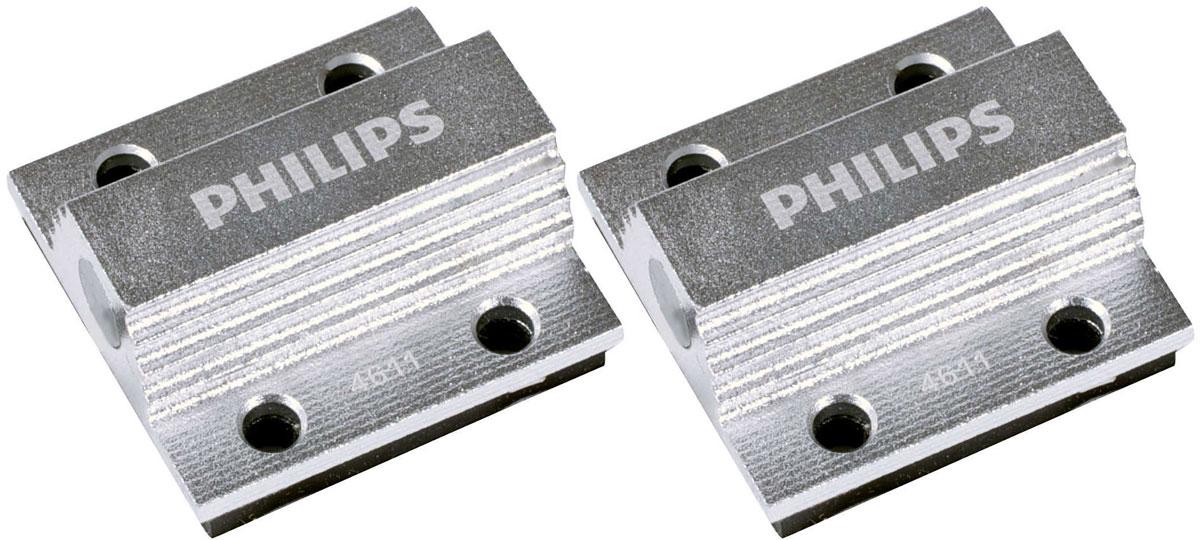 Обманка для светодиодов Philips CEA 12V 5W, 2 шт12956X2При установке светодиодных ламп в некоторые транспортные средства, которые оснащены системой контроля CANBus, на приборной панели могут отображаться сигналы об ошибке. Чтобы этого избежать, используйте систему удаления предупреждений Philips CEA5W.