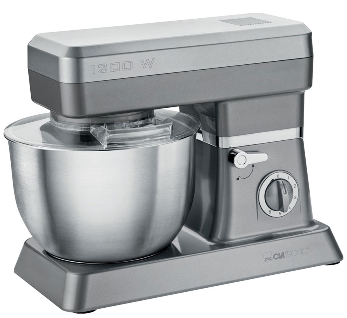 Clatronic KM 3630, Gray кухонный комбайнKM 3630 titanСтационарный миксер Clatronic KM 3630 станет прекрасным помощником для любой хозяйки С ним вы сможете готовить невероятно вкусные и аппетитные блюда, при этом сократив время их приготовление. Основным назначением прибора является изготовление различных видов теста и кремов. Миксер качественно и быстро перемешивает различные ингредиенты, что дает возможность избежать комочков.Clatronic KM 3630 снабжен чашей из нержавеющей стали и механической системой управления. 6 скоростей замешивания + импульсный режим обеспечат наилучший результат.Поворотный рукав на 35°Чаша из нержавеющей сталиБыстрозажимной патронЛегко разбирается для мытья и чистки