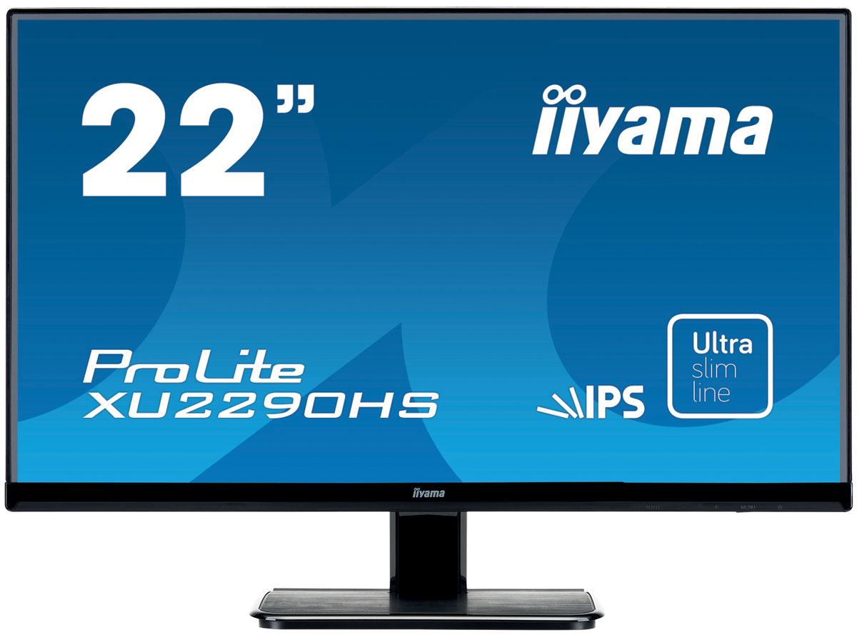 iiyama XU2290HS-B1, Black мониторXU2290HS-B1iiyama XU2290HS-B1 - высококачественный 22-дюймовый Full HD-дисплей, оснащенный светодиодной подсветкой и IPS панельной, гарантирующей точное и последовательное воспроизведение цвета с широкими углами обзора. Уровень динамического контраста этой модели превышает 5 000 000:1, а время отклика пикселей составляет 5 мс, что позволяет монитору демонстрировать отличное качество изображения. Наличие трех портов ввода обеспечивает полную совместимость со всеми новейшими графическими адаптерами. Монитор имеет сертификаты TCO и Energy Star. Модель идеально подойдет для образовательных, государственных, бизнес-структур и финансовых организаций.