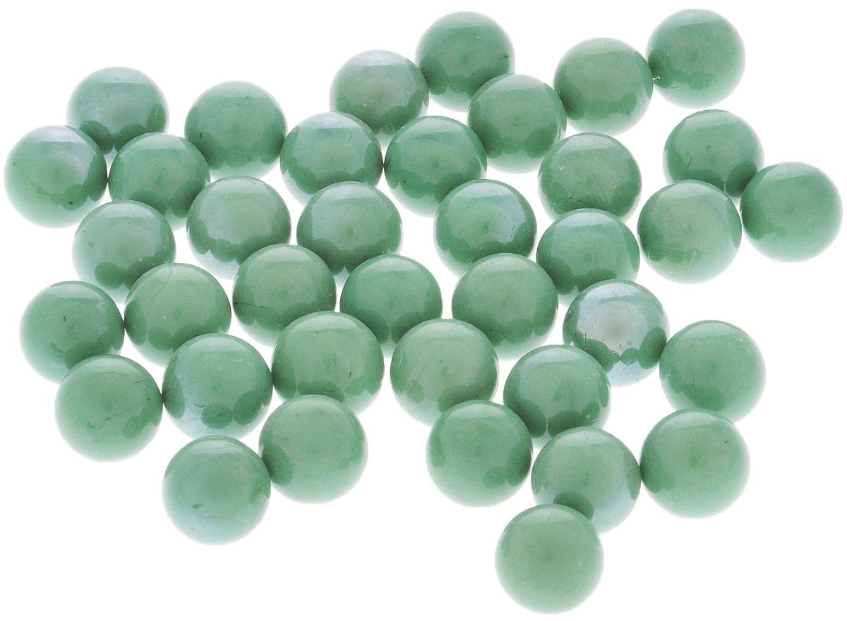 Марблс для аквариума Barbus Шары, цвет: зеленый мох, диаметр 1,6 см, 200 г