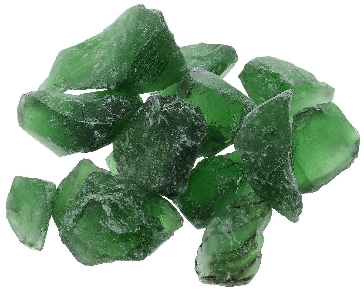 Марблс для аквариума Barbus Кристаллы, цвет: зеленый, 2,5-3,5 см, 200 г