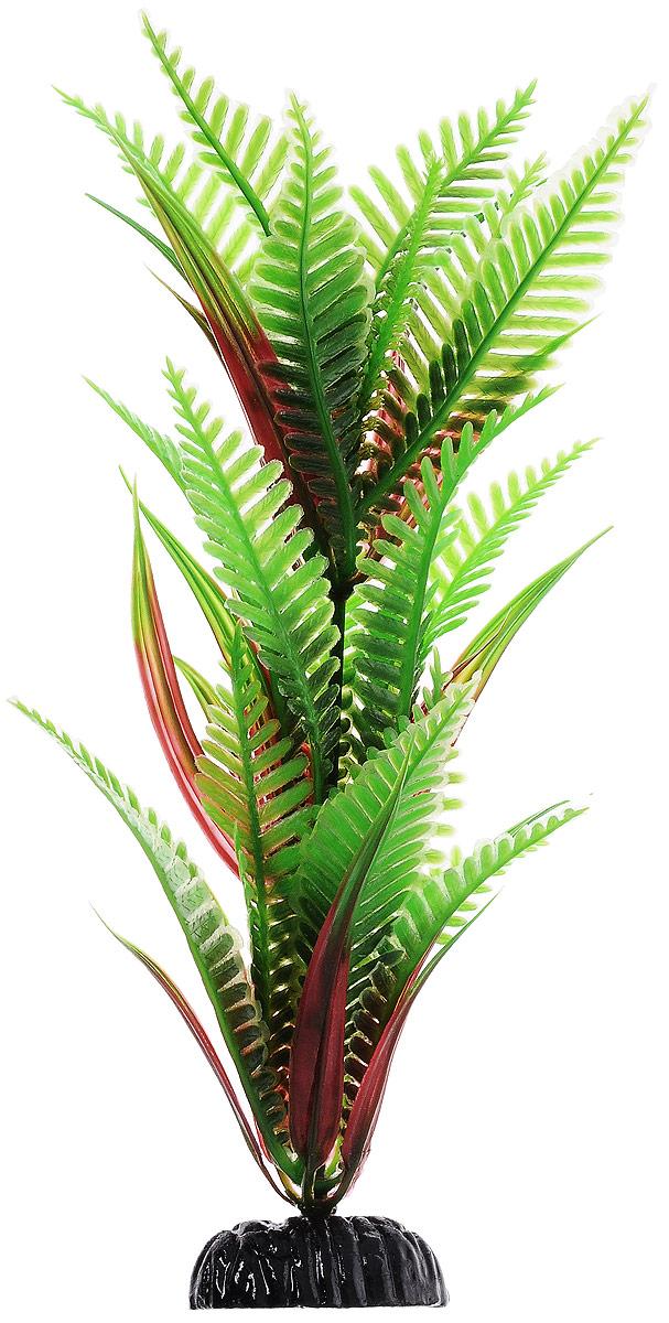 Растение для аквариума Barbus Папоротник, пластиковое, высота 20 смPlant 027/20Растение для аквариума Barbus Папоротник, выполненное из качественного пластика, станет прекрасным украшением вашего аквариума. Пластиковое растение идеально подходит для дизайна всех видов аквариумов. Оно абсолютно безопасно, нейтрально к водному балансу, устойчиво к истиранию краски, подходит как для пресноводного, так и для морского аквариума. Растение для аквариума Barbus поможет вам смоделировать потрясающий пейзаж на дне вашего аквариума или террариума. Высота растения: 20 см.