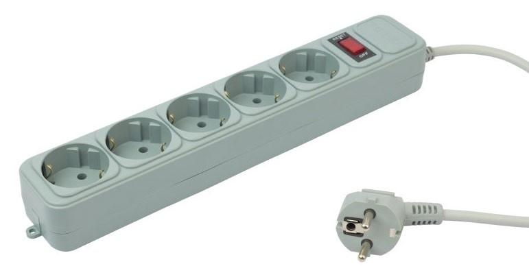 Сетевой фильтр PC Pet AP01006-E-GR 1.8 м (5 розеток), GreyAP01006-E-GОснащен надежной, быстродействующей схемой защиты от повышенного напряжения в сети питания, а также от высокочастотных помех и импульсных перенапряжений.