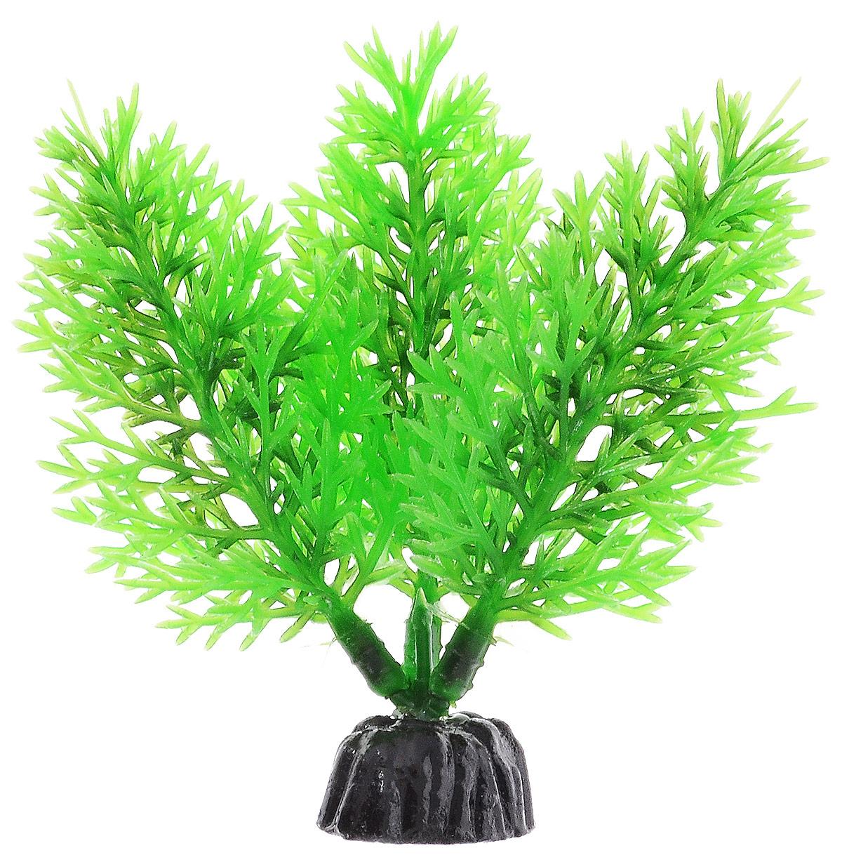 Растение для аквариума Barbus Роголистник, пластиковое, цвет: зеленый, высота 10 см растение для аквариума barbus амбулия пластиковое высота 20 см