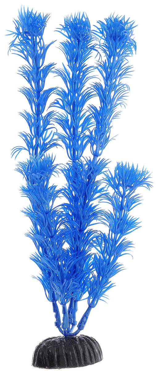 """Растение для аквариума Barbus """"Кабомба"""", пластиковое, цвет: синий, высота 20 см"""