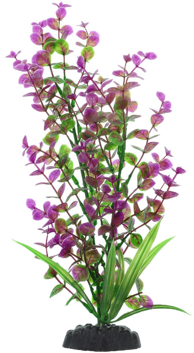Растение для аквариума Barbus Бакопа, пластиковое, цвет: зеленый, фиолетовый, высота 30 см