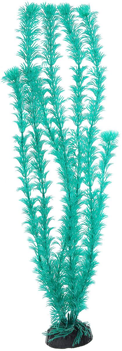 """Растение для аквариума Barbus """"Кабомба"""", пластиковое, цвет: бирюзовый, высота 50 см"""