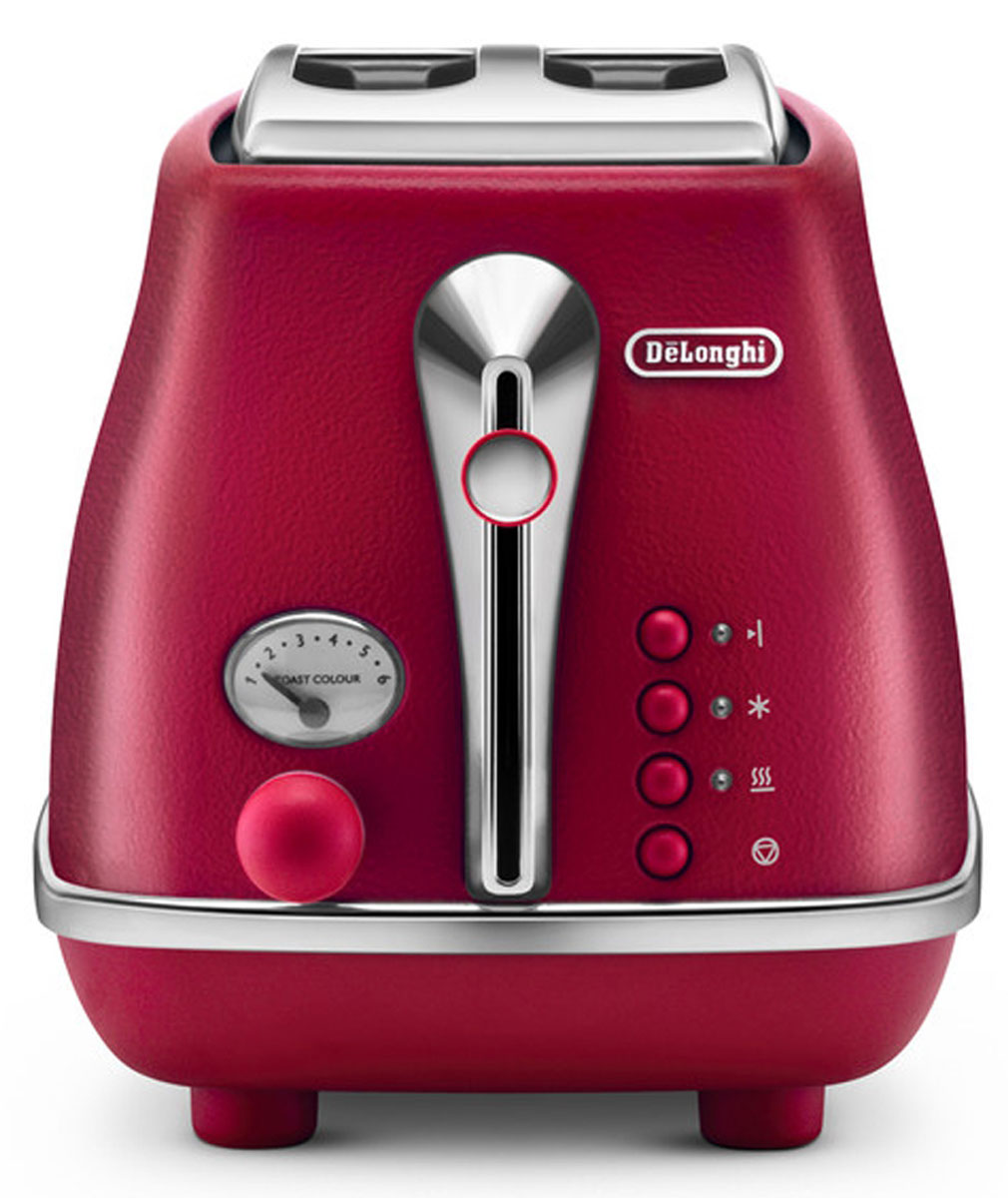 Тостер DeLonghi Icona Elements CTOE2103.R, Red