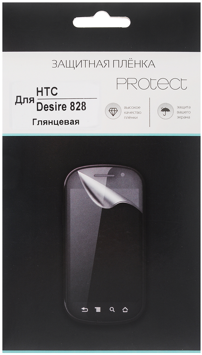 Protect защитная пленка для HTC Desire 828, глянцевая защитная пленка partner для htc one max