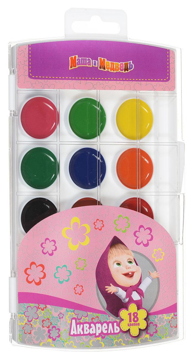 Маша и Медведь Акварель 18 цветов25200Акварель Маша и Медведь включает в себя восемнадцать насыщенных цветов.Удобный пластиковый пенал четко фиксирует краску в специальных нишах, также в нем находится специальное отделение для хранения кисточки.Акварельные краски идеально подойдут для детского художественного творчества, изобразительных и оформительских работ. Краски легко размываются, создавая прозрачный цветной слой, легко смешиваются между собой, не крошатся и не смазываются, быстро сохнут. В процессе рисования у детей развиваются наглядно-образное мышление, воображение, мелкая моторика рук, творческие и художественные способности, вырабатываются усидчивость и аккуратность.
