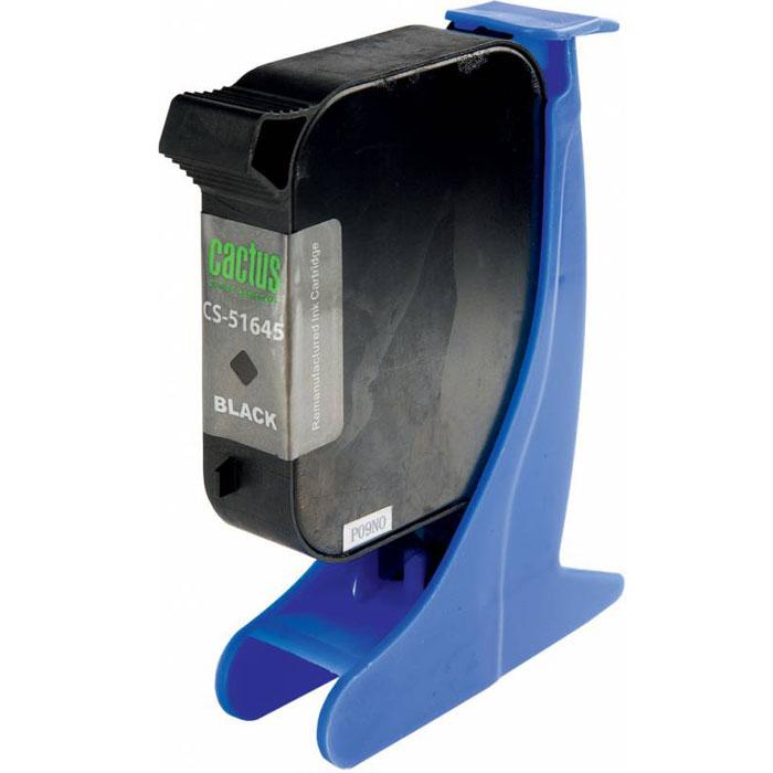 Cactus CS-51645 №45, Black картридж струйный для HP DJ 710c/720c/722c/815c/820cXi/850c/870cXi/880c картридж для принтера hp c8767he 130 black inkjet print cartridge