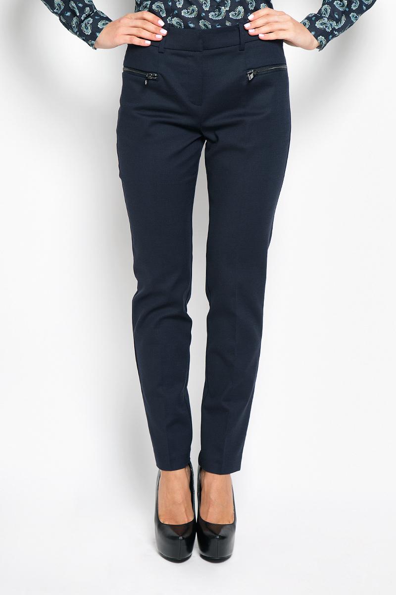 Брюки женские Baon, цвет: темно-синий. B296516. Размер L (48) брюки baon брюки