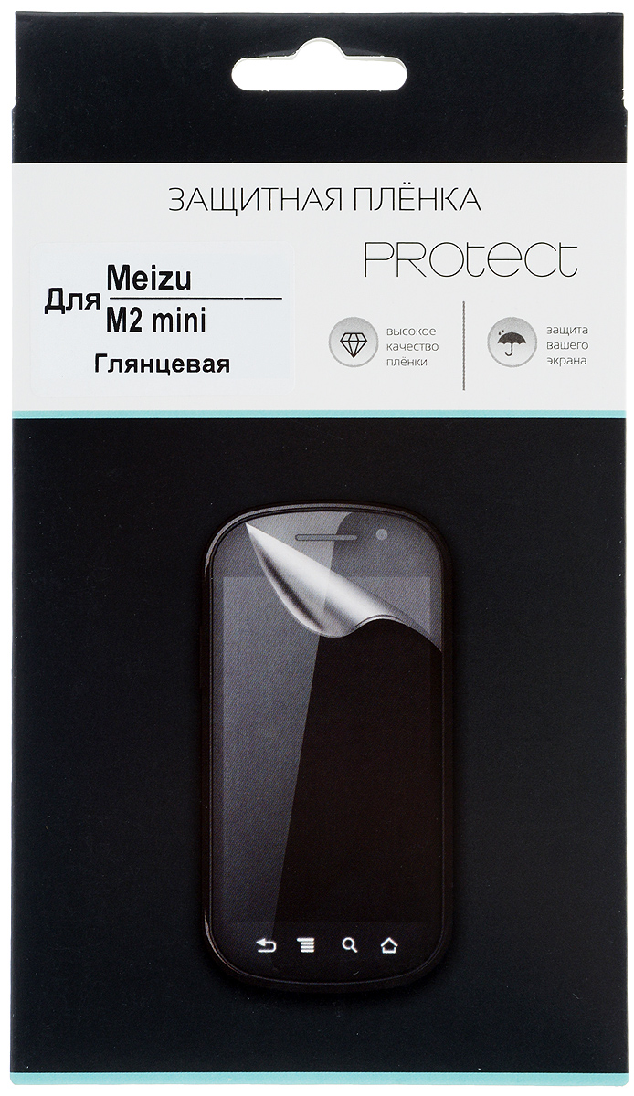 Protect защитная пленка для Meizu M2 mini, глянцевая защитная плёнка для meizu m2 mini глянцевая tfn
