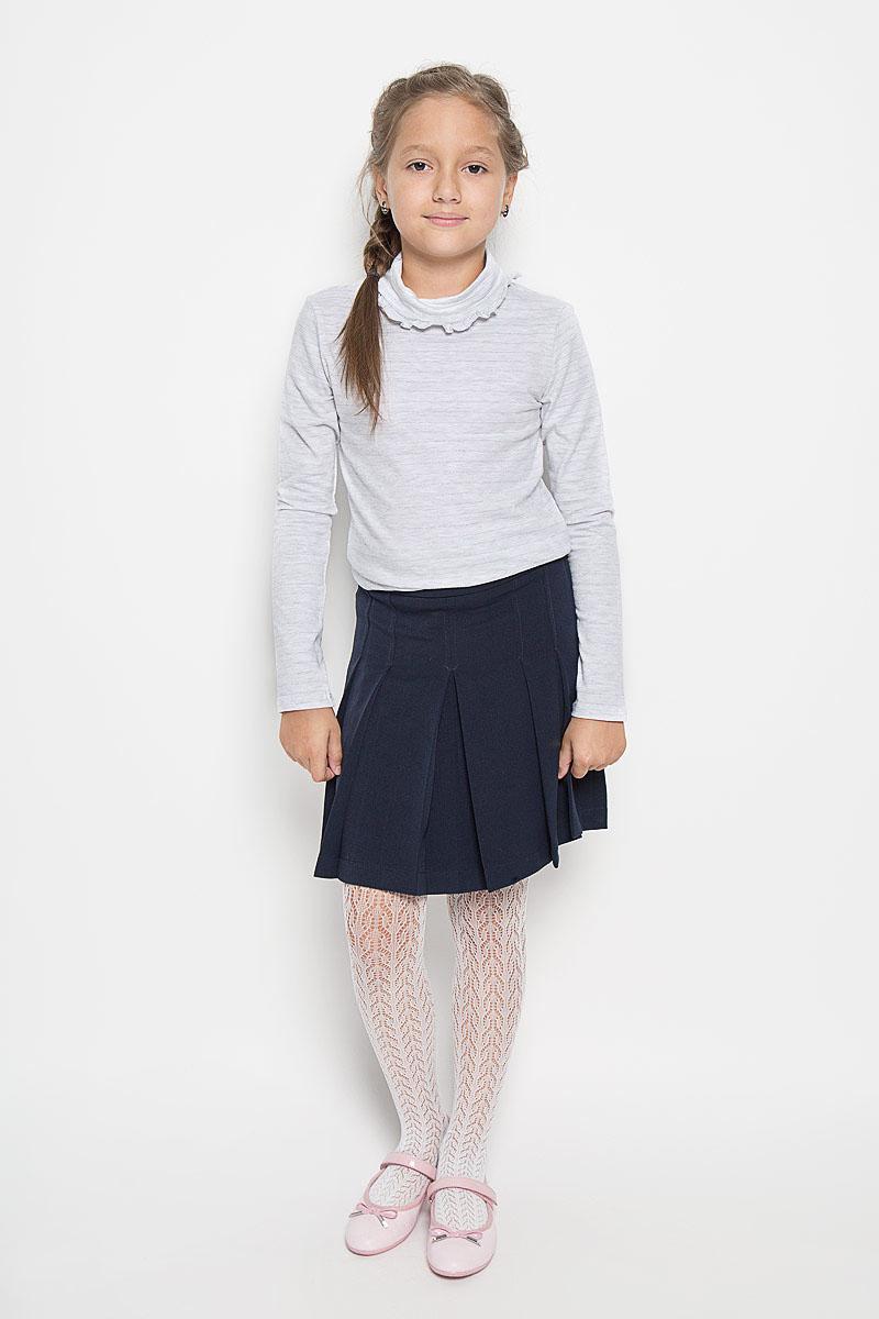 Водолазка для девочки Sela, цвет: светло-серый меланж. Tt-611/077-6311. Размер 116, 6 лет