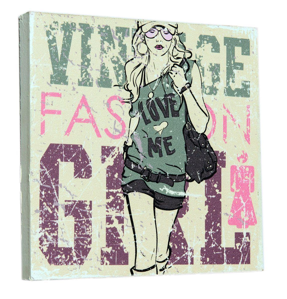 Картина Mister Poster Девушка с обложки 2, 22 х 22 см картина mister poster розовые цветы вишни 22 х 14 5 см