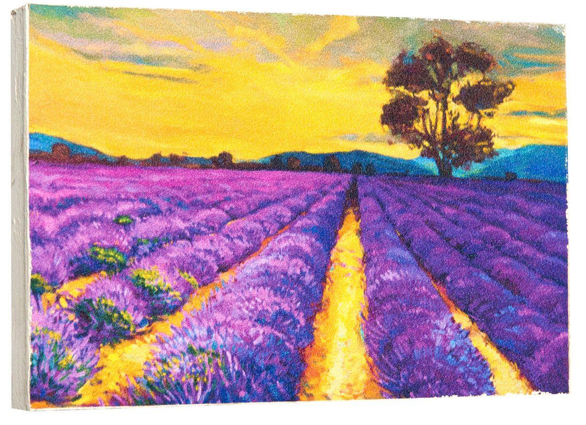 Картина Живопись. Лавандовое поле, 14,5 х 22 см0161-15-22