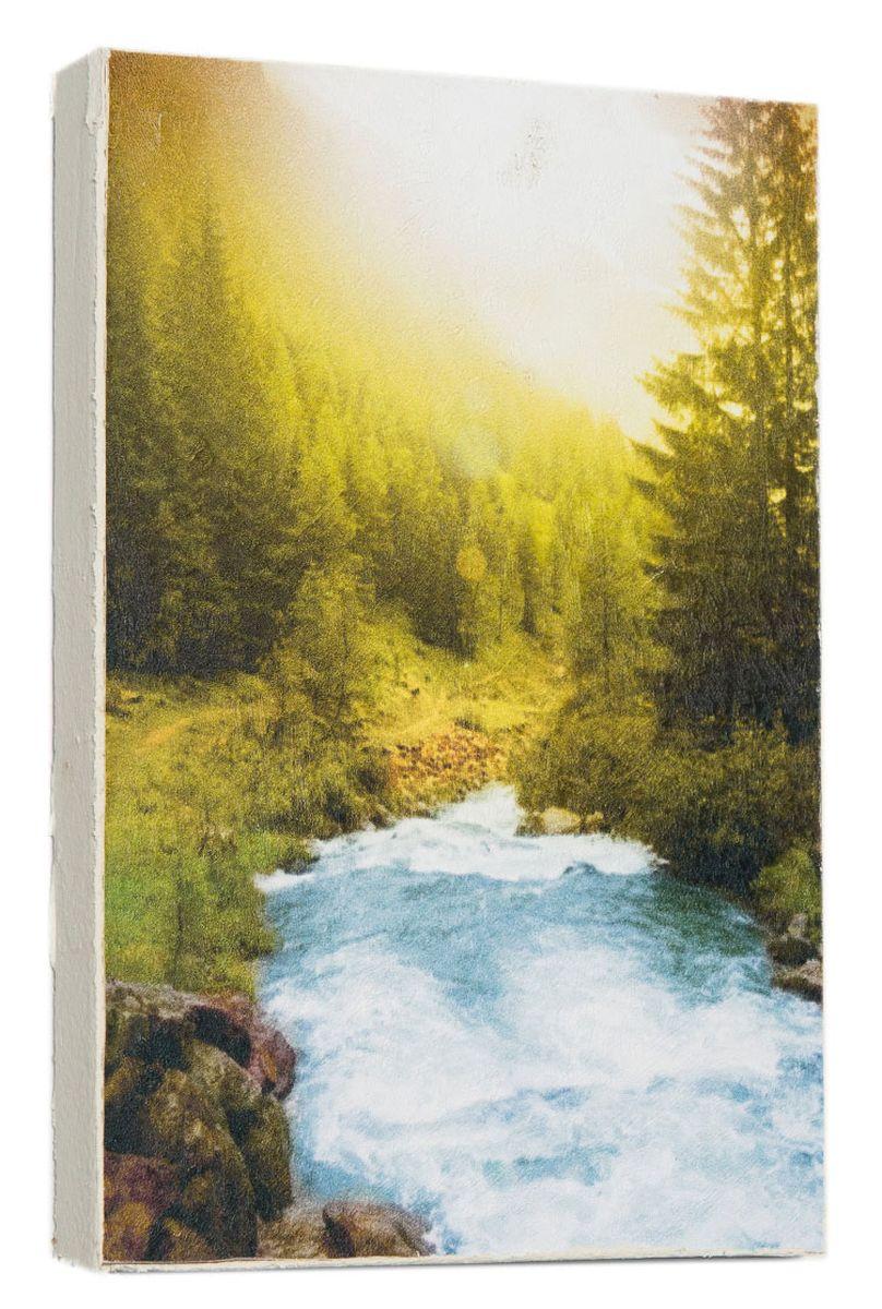Картина Mister Poster Горная река, 14,5 х 22 см0190-15-22Картина Mister Poster - это высококачественная репродукция на деревянной раме. Лицевая поверхность имитирует штукатурку или натуральный холст, края окрашены вручную специальным декоративным составом.Современные технологии, уникальное оборудование и оригинальные чернила, используемые при изготовлении, делают постер устойчивым к выцветанию, а также гарантируют стойкость к воздействию негативных внешних факторов. Интерьер дома и офиса, в котором находится человек, в значительной степени влияет на его настроение и работоспособность. Правильное оформление интерьера создает благоприятный психологический климат, улучшает настроение и мотивирует. Добавьте «красок» в ваш интерьер и, возможно, в вашу жизнь.