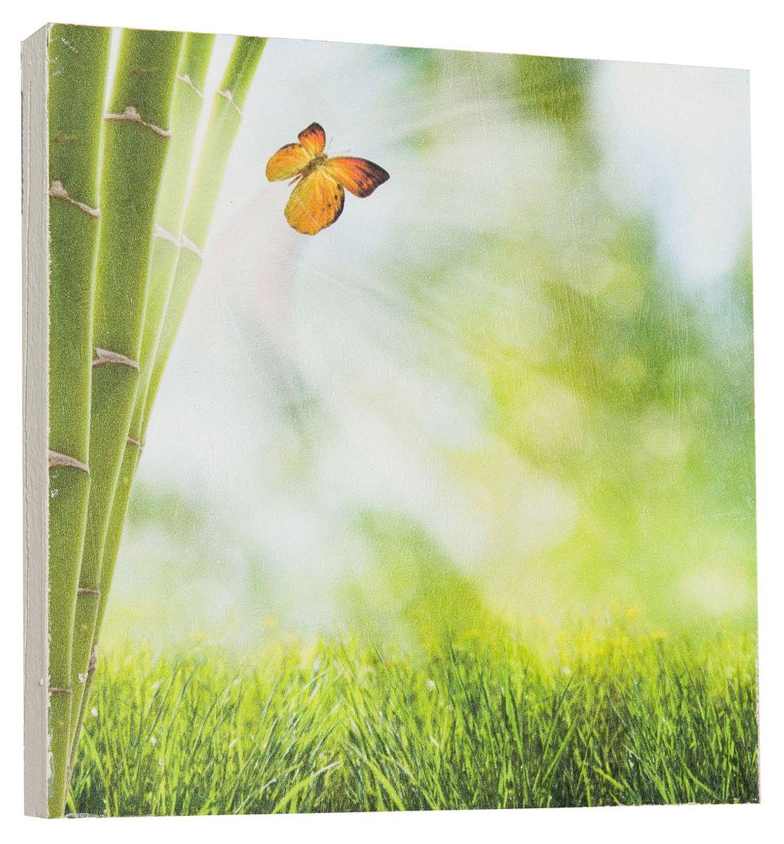 Картина Mister Poster Яркая бабочка на бамбуке, 22 х 22 см0266-22-22Картина Mister Poster - это высококачественная репродукция на деревянной раме. Лицевая поверхность имитирует штукатурку или натуральный холст, края окрашены вручную специальным декоративным составом.Современные технологии, уникальное оборудование и оригинальные чернила, используемые при изготовлении, делают постер устойчивым к выцветанию, а также гарантируют стойкость к воздействию негативных внешних факторов. Интерьер дома и офиса, в котором находится человек, в значительной степени влияет на его настроение и работоспособность. Правильное оформление интерьера создает благоприятный психологический климат, улучшает настроение и мотивирует. Добавьте «красок» в ваш интерьер и, возможно, в вашу жизнь.
