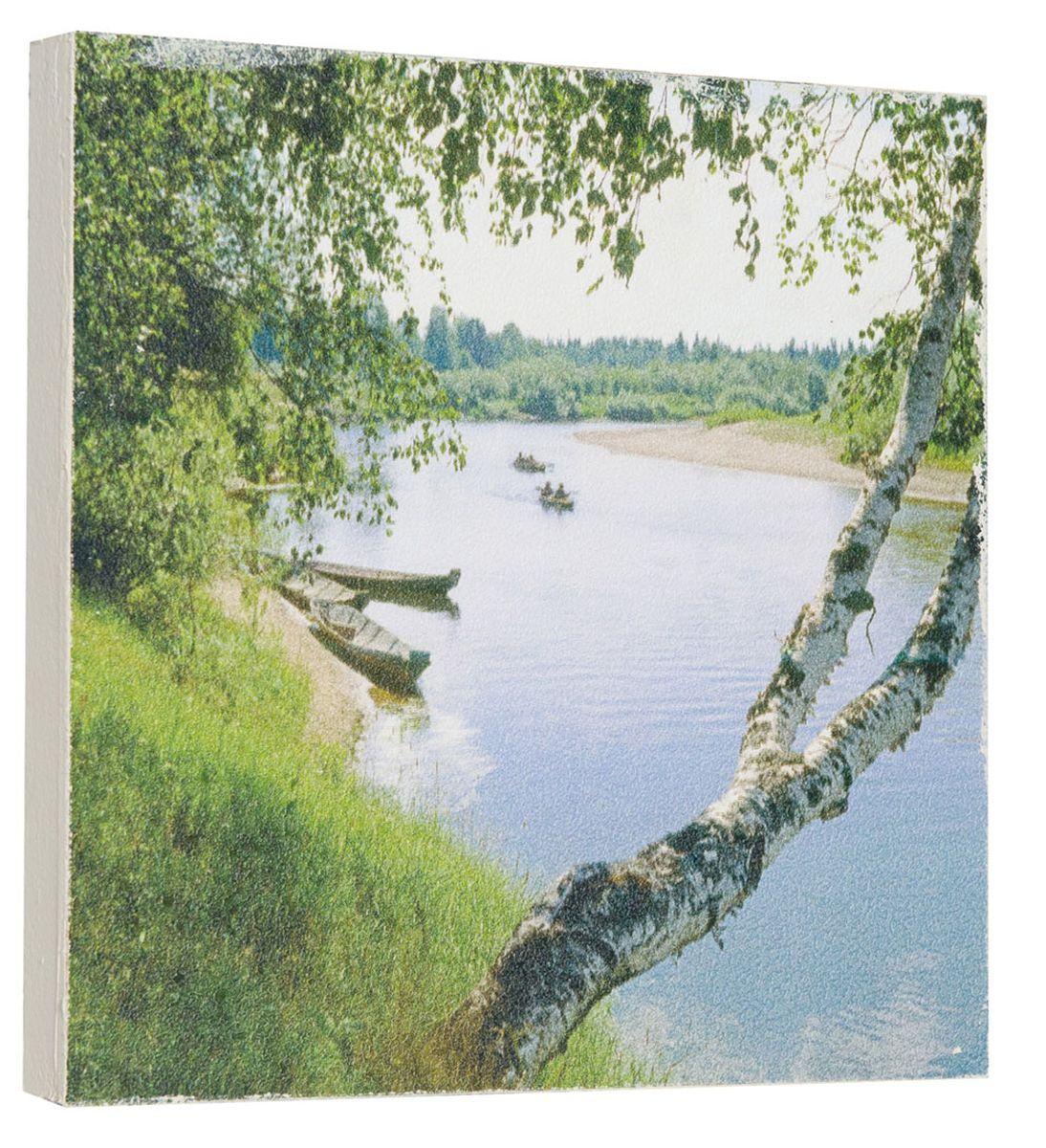 Картина Красивые березки у реки, 22 х 22 см0286-22-22