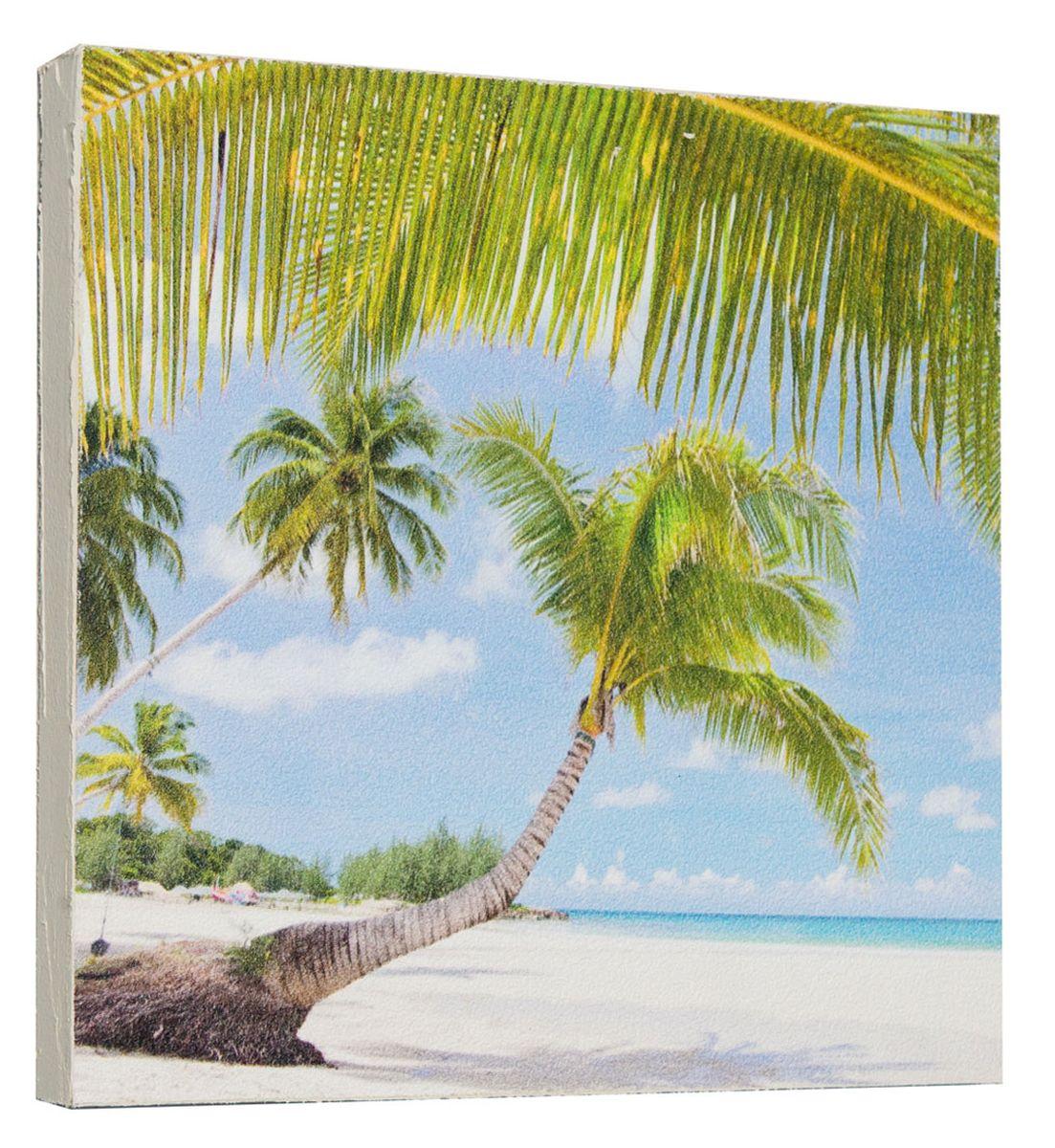 Картина Mister Poster Тропическая пальма, 22 х 22 см0297-22-22Картина Mister Poster - это высококачественная репродукция на деревянной раме. Лицевая поверхность имитирует штукатурку или натуральный холст, края окрашены вручную специальным декоративным составом.Современные технологии, уникальное оборудование и оригинальные чернила, используемые при изготовлении, делают постер устойчивым к выцветанию, а также гарантируют стойкость к воздействию негативных внешних факторов. Интерьер дома и офиса, в котором находится человек, в значительной степени влияет на его настроение и работоспособность. Правильное оформление интерьера создает благоприятный психологический климат, улучшает настроение и мотивирует. Добавьте «красок» в ваш интерьер и, возможно, в вашу жизнь.