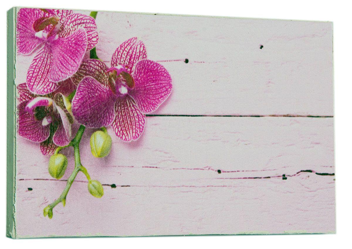Картина Mister Poster Стильная розовая орхидея, 22 х 14,5 см0406-15-22Картина Mister Poster - это высококачественная репродукция на деревянной раме. Лицевая поверхность имитирует штукатурку или натуральный холст, края окрашены вручную специальным декоративным составом.Современные технологии, уникальное оборудование и оригинальные чернила, используемые при изготовлении, делают постер устойчивым к выцветанию, а также гарантируют стойкость к воздействию негативных внешних факторов. Интерьер дома и офиса, в котором находится человек, в значительной степени влияет на его настроение и работоспособность. Правильное оформление интерьера создает благоприятный психологический климат, улучшает настроение и мотивирует. Добавьте «красок» в ваш интерьер и, возможно, в вашу жизнь.