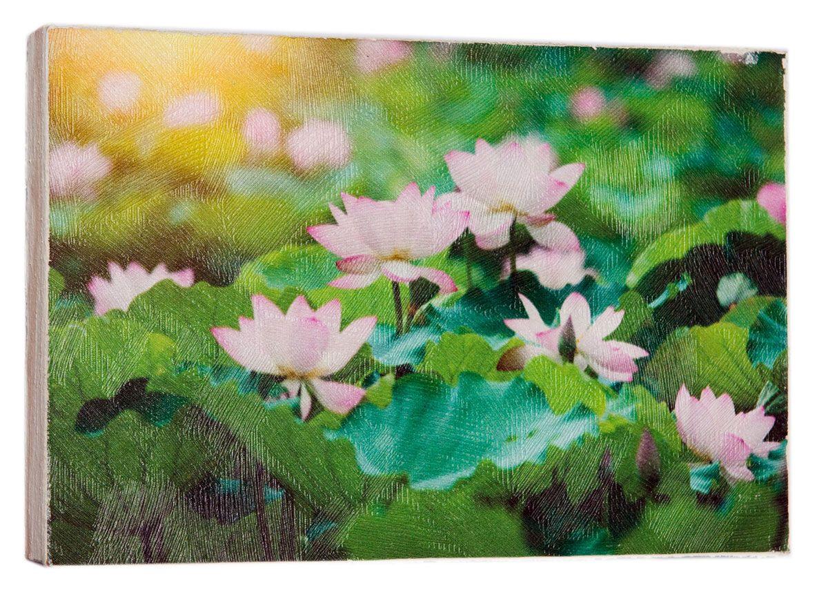 Картина Mister Poster Розовые цветки лотоса, 22 х 14,5 см0436-15-22Картина Mister Poster - это высококачественная репродукция на деревянной раме. Лицевая поверхность имитирует штукатурку или натуральный холст, края окрашены вручную специальным декоративным составом.Современные технологии, уникальное оборудование и оригинальные чернила, используемые при изготовлении, делают постер устойчивым к выцветанию, а также гарантируют стойкость к воздействию негативных внешних факторов. Интерьер дома и офиса, в котором находится человек, в значительной степени влияет на его настроение и работоспособность. Правильное оформление интерьера создает благоприятный психологический климат, улучшает настроение и мотивирует. Добавьте «красок» в ваш интерьер и, возможно, в вашу жизнь.