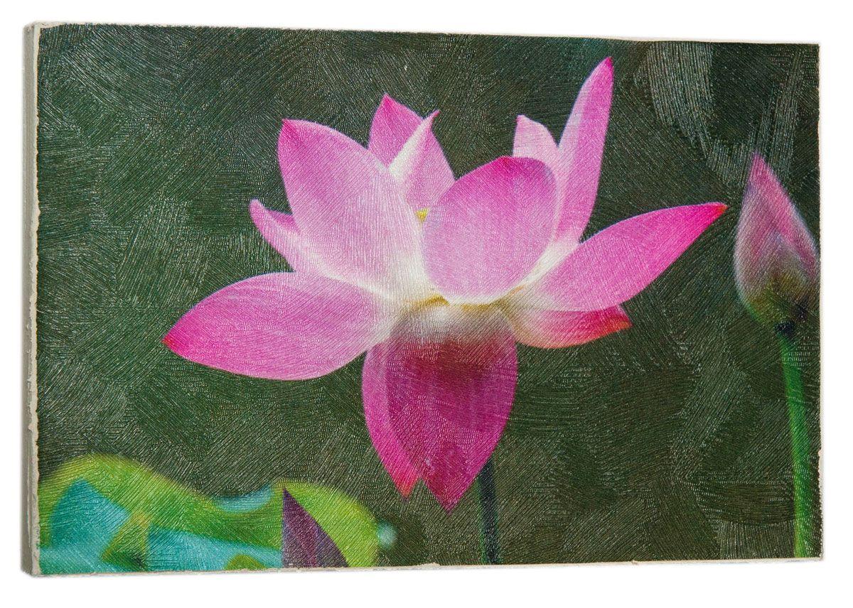 Картина Mister Poster Волшебный розовый лотос, 22 х 14,5 см0465-15-22Картина Mister Poster - это высококачественная репродукция на деревянной раме. Лицевая поверхность имитирует штукатурку или натуральный холст, края окрашены вручную специальным декоративным составом.Современные технологии, уникальное оборудование и оригинальные чернила, используемые при изготовлении, делают постер устойчивым к выцветанию, а также гарантируют стойкость к воздействию негативных внешних факторов. Интерьер дома и офиса, в котором находится человек, в значительной степени влияет на его настроение и работоспособность. Правильное оформление интерьера создает благоприятный психологический климат, улучшает настроение и мотивирует. Добавьте «красок» в ваш интерьер и, возможно, в вашу жизнь.