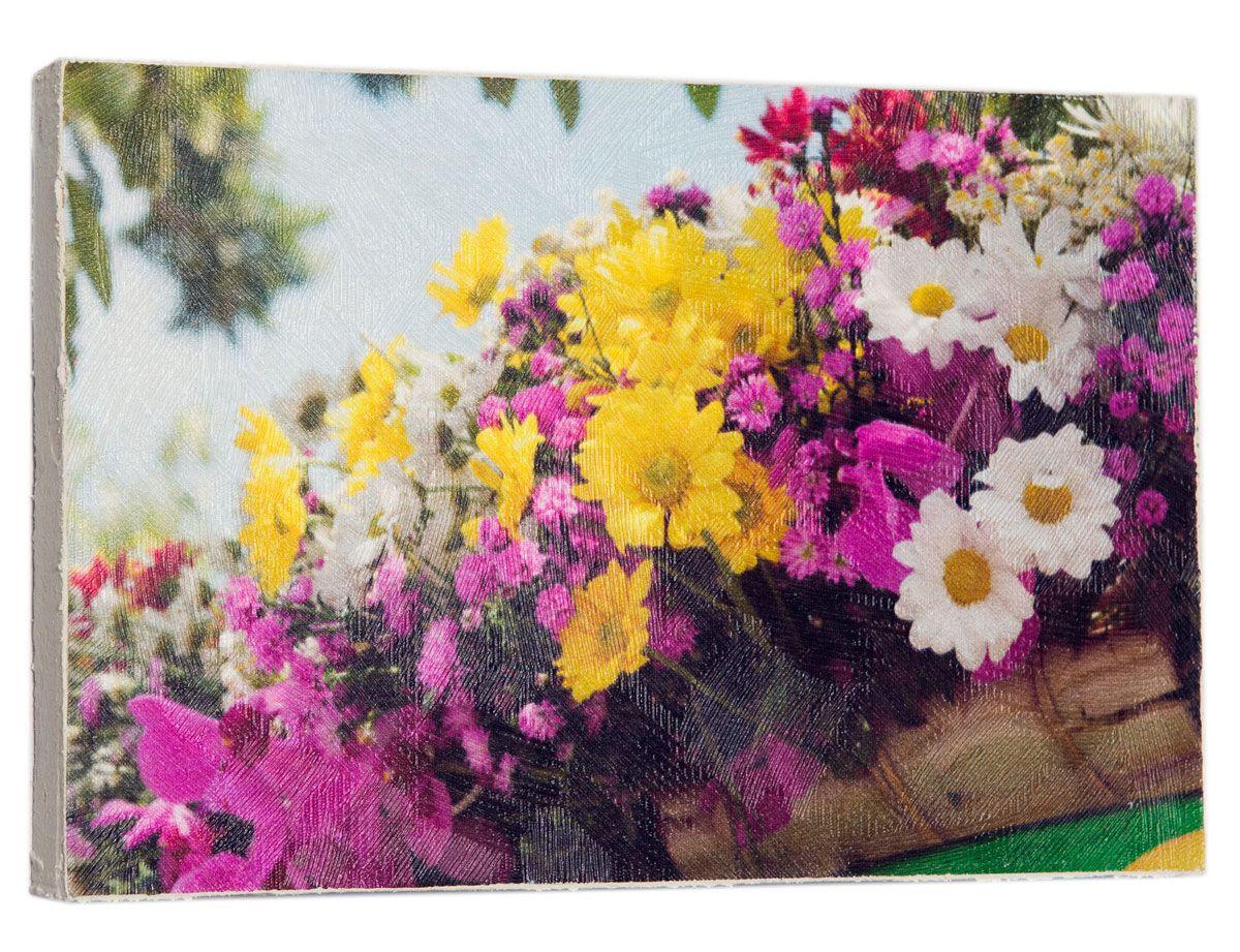 Картина Mister Poster Разноцветные цветочки в горшках , 22 х 14,5 см0469-15-22Картина Mister Poster - это высококачественная репродукция на деревянной раме. Лицевая поверхность имитирует штукатурку или натуральный холст, края окрашены вручную специальным декоративным составом.Современные технологии, уникальное оборудование и оригинальные чернила, используемые при изготовлении, делают постер устойчивым к выцветанию, а также гарантируют стойкость к воздействию негативных внешних факторов. Интерьер дома и офиса, в котором находится человек, в значительной степени влияет на его настроение и работоспособность. Правильное оформление интерьера создает благоприятный психологический климат, улучшает настроение и мотивирует. Добавьте «красок» в ваш интерьер и, возможно, в вашу жизнь.