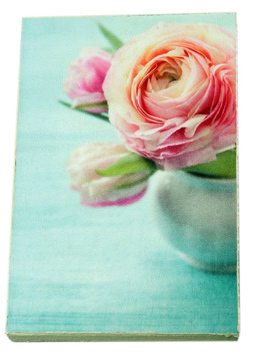 Картина Прекрасный букет нежных розовых пионов, 14,5 х 22 см0509-15-22