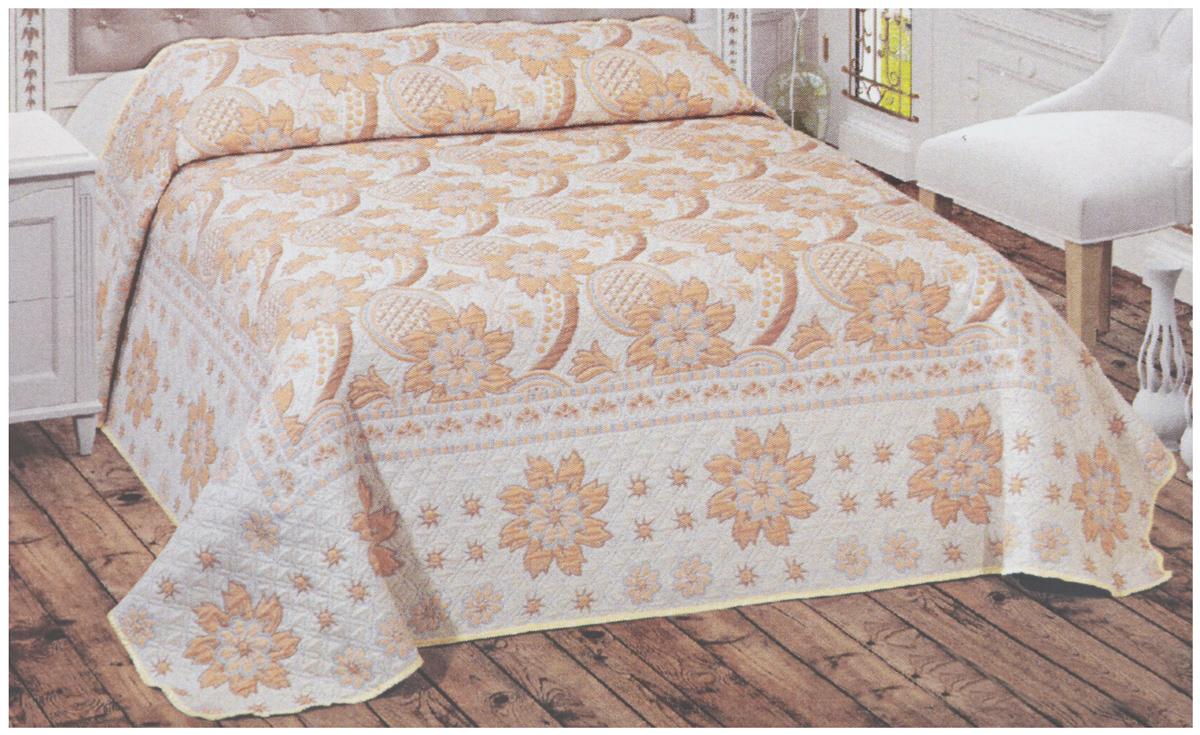 """Покрывало Arya """"Tay-Pen"""" прекрасно оформит интерьер спальни или гостиной. Изделие изготовлено из 100% полиэстера. Жаккардовые покрывала уникальны, так как они практичны и универсальны в использовании. Жаккардовые ткани хорошо сохраняют окраску, слабо подвержены влиянию перепадов температур. Своеобразный рельефный рисунок, который получается в результате сложного переплетения на плотной ткани, напоминает гобелен.Изделие долговечно, надежно и легко стирается.   Покрывало Arya """"Tay-Pen"""" не только подарит тепло, но и гармонично впишется в интерьер вашего дома."""