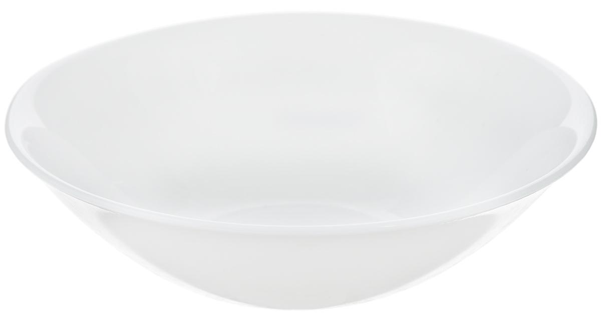 """Тарелка Luminarc """"Authentic"""", изготовленная из ударопрочного стекла, имеет изысканный внешний вид.  Такая тарелка прекрасно подходит как для торжественных случаев, так и для повседневного использования.  Идеально подходит для подачи первых блюд, а так же для сервировки и подачи салатов. Она прекрасно оформит  стол и станет отличным дополнением к вашей коллекции кухонной посуды.  Высота тарелки: 4,5 см. Диаметр тарелки (по верхнему краю): 16,5 см."""