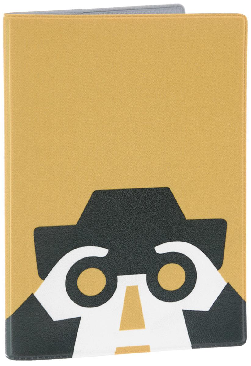 Обложка для паспорта Mitya Veselkov Следопыт, цвет: желтый. AUTOZAM396ПВХ (поливинилхлорид)Обложка для паспорта Mitya Veselkov Следопыт- оригинальный и стильный аксессуар, который придется по душе истинным модникам и поклонникам интересного и необычного дизайна. Качественная обложка выполнена из легкого и прочного ПВХ, который надежно защищает важные документы от пыли, влаги и бытового истирания. Изделие раскладывается пополам. Внутри размещены два накладных кармашка из прозрачного ПВХ.Простая, но в то же время стильная обложка для паспорта определенно выделит своего обладателя из толпы и непременно поднимет настроение. А яркий современный дизайн, который является основной фишкой данной модели, будет радовать глаз.Почувствуй себя настоящим следопытом с модным аксессуаром от Mitya Veselkov!