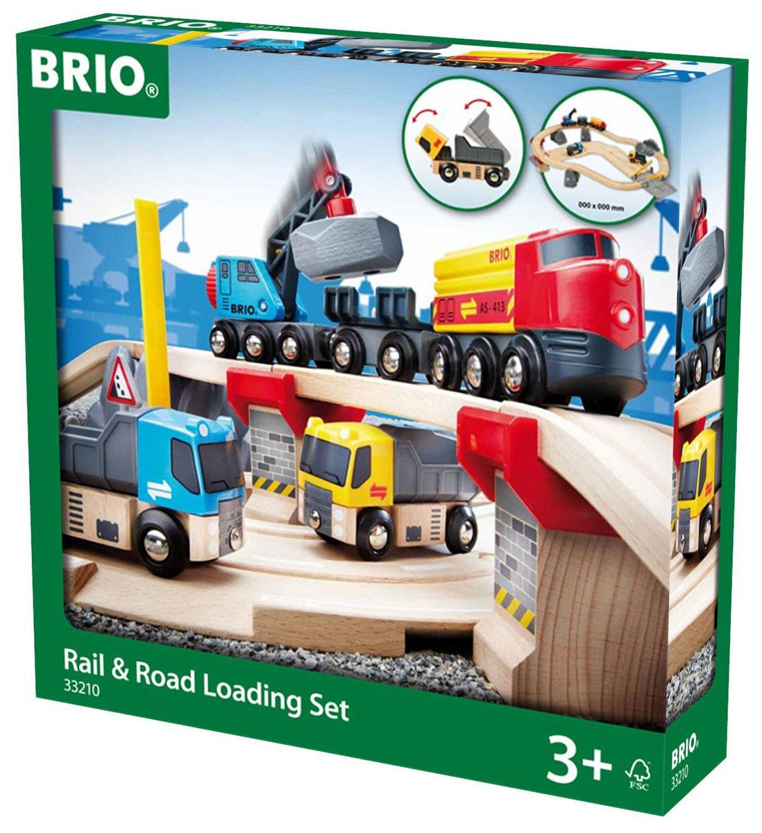 Brio Железная дорога с автодорогой и переездом