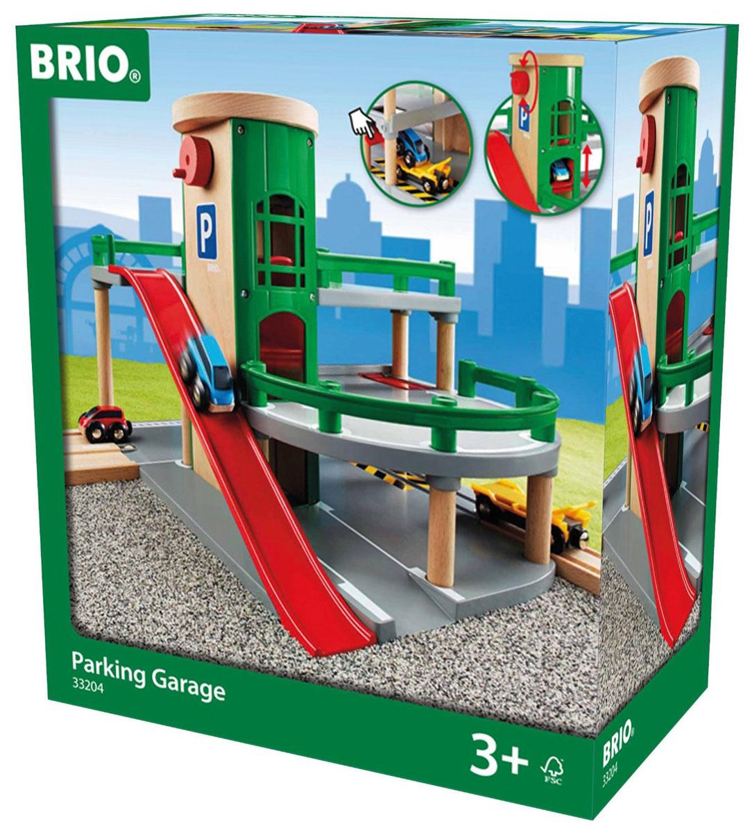 Brio Парковка с лифтом машинки brio погрузчик с подъемником и фигуркой brio