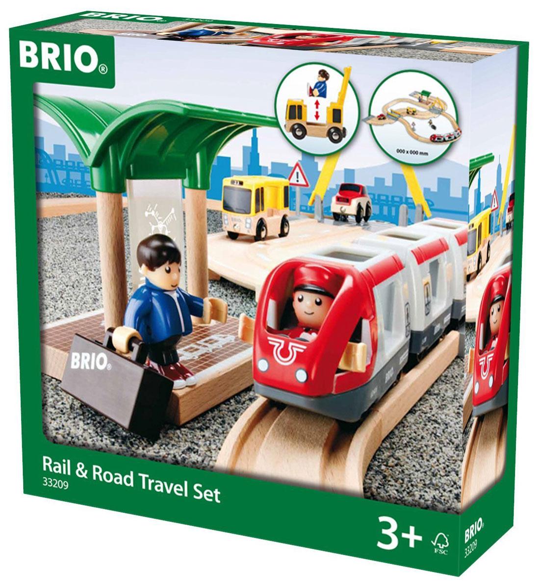 Brio Железная дорога с переездом спот ★ импортированные голубой автобус автобус автобус автомобиль тайо игрушка тянуть обратно автомобиль корея продукты