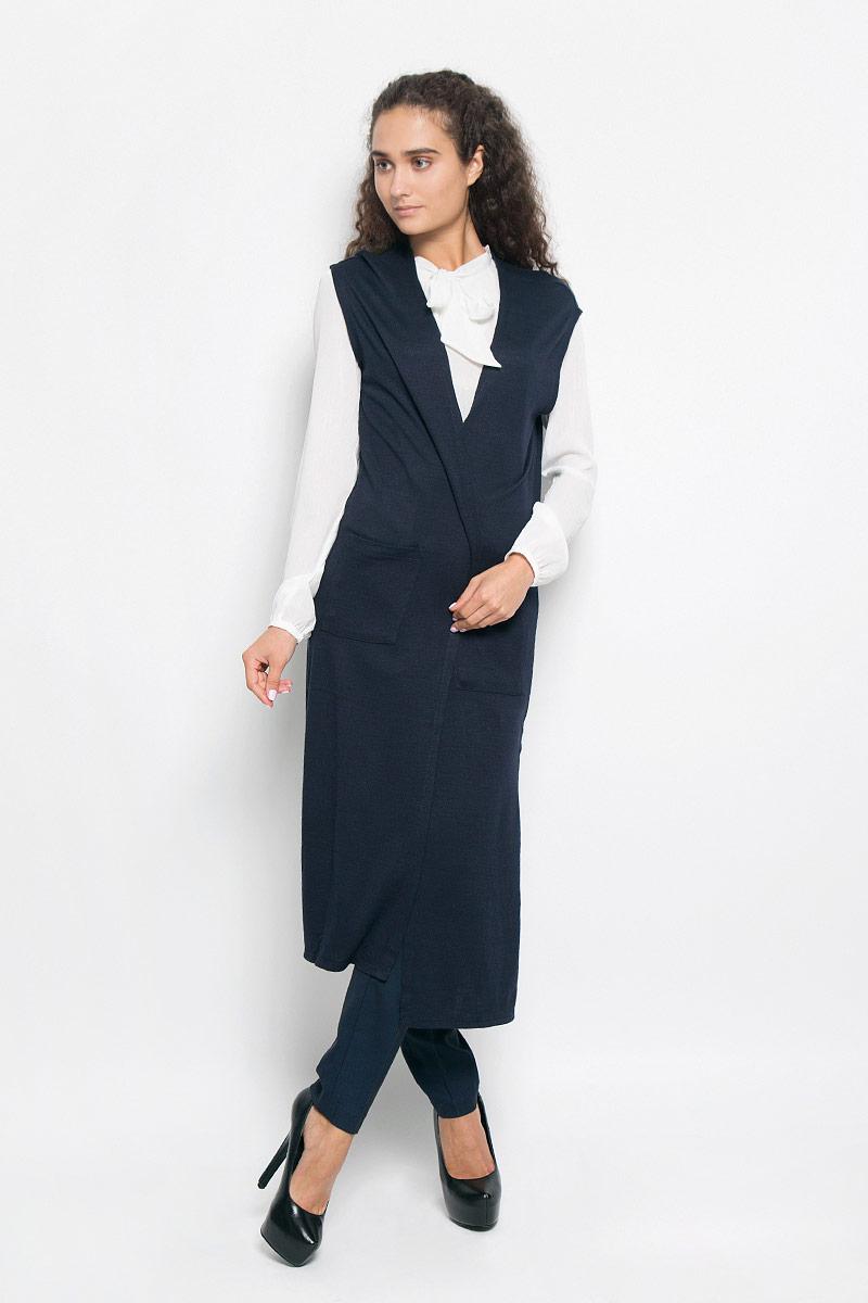 Кардиган женский Tom Tailor Denim, цвет: темно-синий. 3022068.00.71_6901. Размер L (48) женский кардиган 013a56