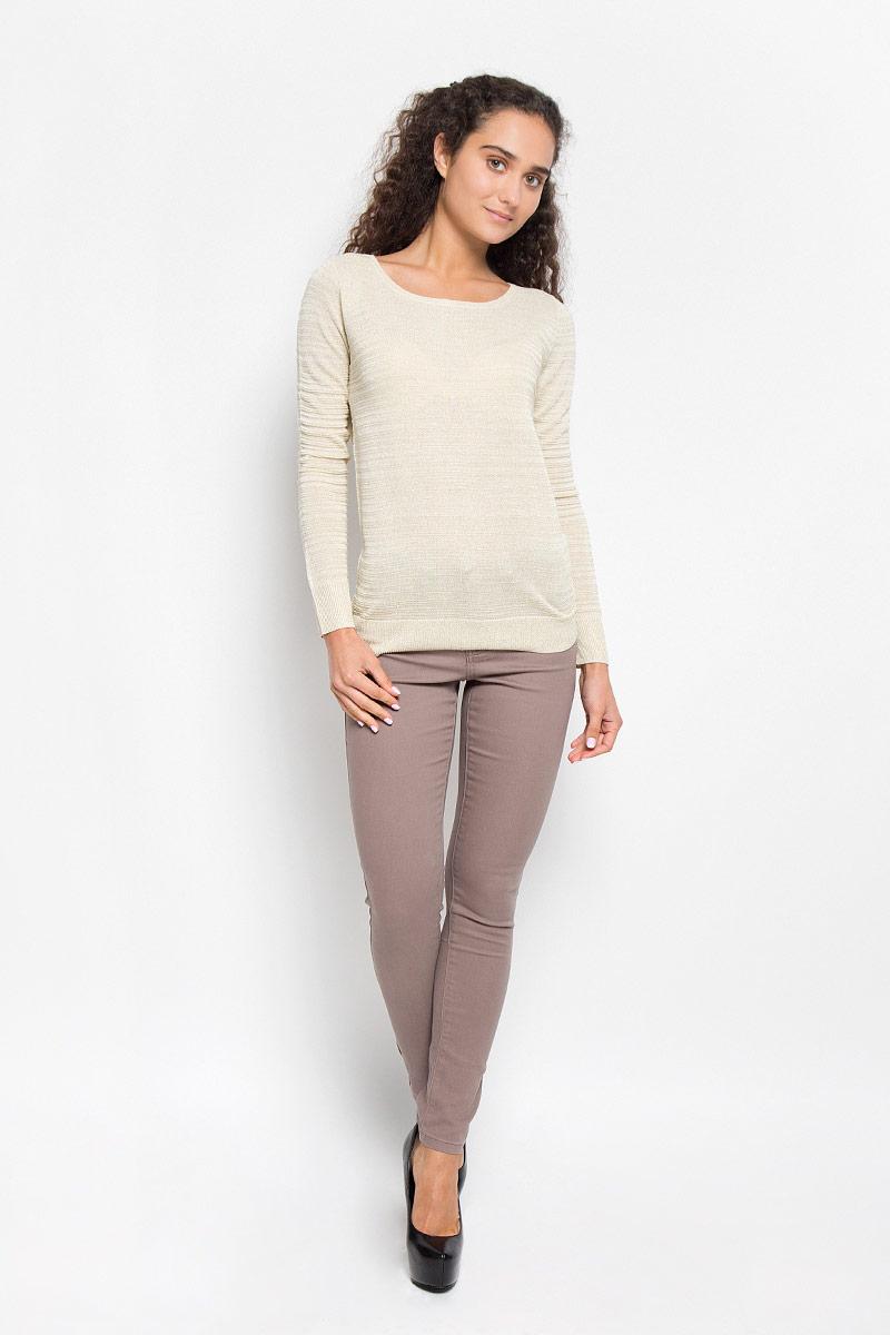 Купить Джемпер женский Sela Casual, цвет: бежевый. JR-114/1117-6372. Размер L (48)