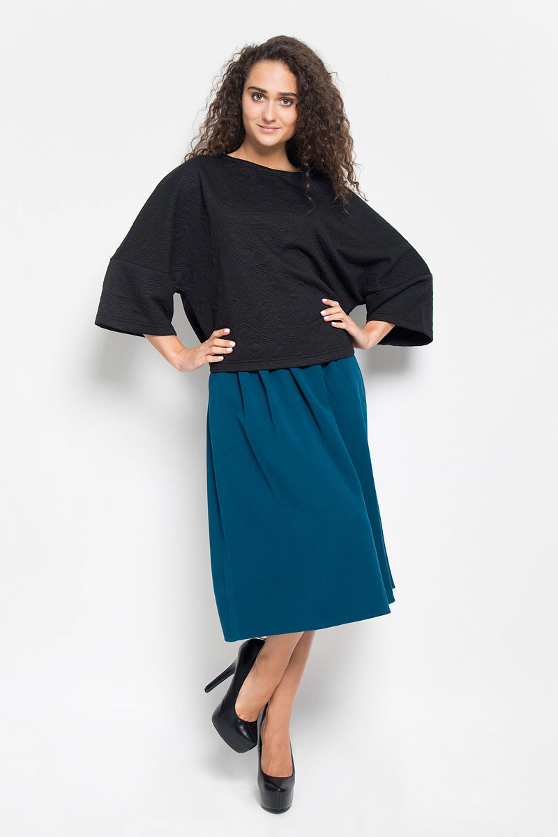 Джемпер женский Baon, цвет: черный. B116505. Размер M (46) джемпер женский baon цвет темно синий b136561 размер m 46