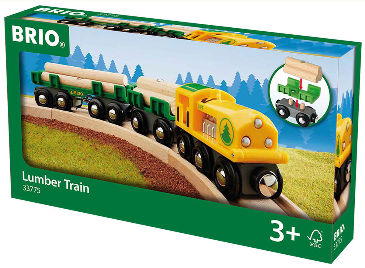 Brio Товарный поезд лесовоз железные дороги brio вагончик трамвая с фигуркой brio