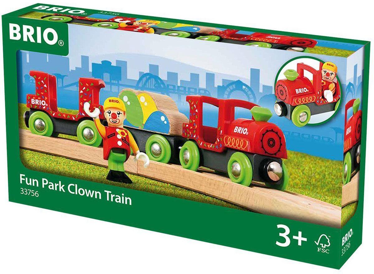 Brio Цирковой поезд поезд brio товарный с раздвижными вагонами 33567