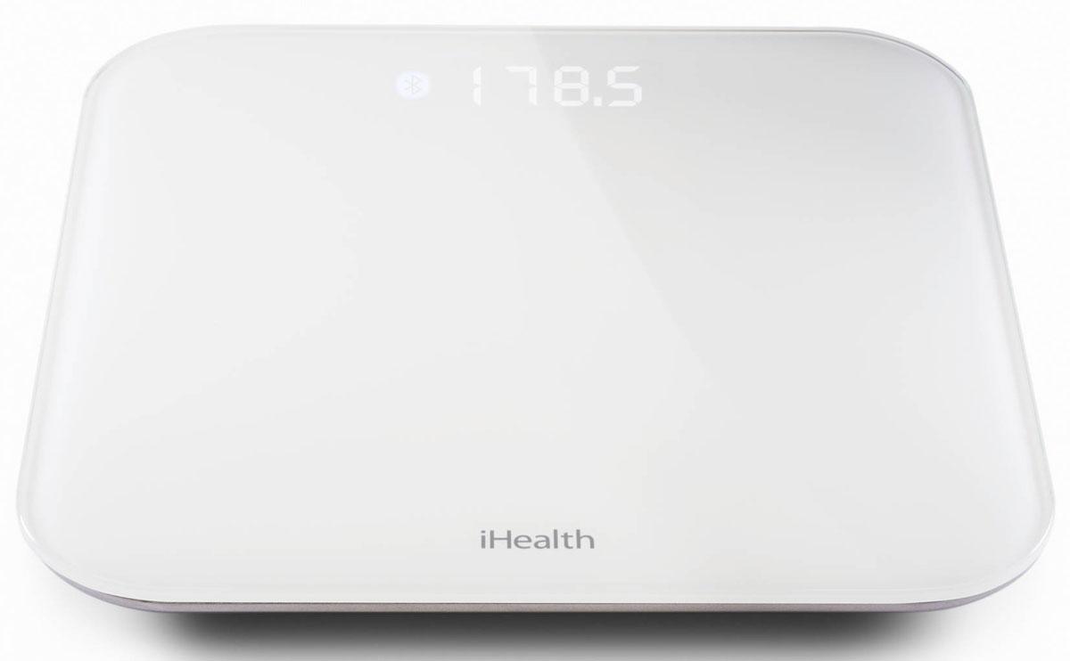 iHealth Lite напольные весыHS4SУмные весы iHealth Lite автоматически передают статистику взвешиваний в приложение iHealth MyVitals. Возможности программы позволяют проследить изменения веса в динамике, проанализировать статистику, рассчитать индекс массы тела. Весы iHealth Lite выполнены в классической квадратной форме. Длина ребра измерительной платформы 35 см, а толщина чуть больше 2 см. Весят умные весы iHealth Lite 2,5 килограмма.Диапазон измерения iHealth Lite от 5 до 182 кг. Результаты измерений, отображаемые на цифровом экране, легко читаются при любом освещении. Оригинальная задняя подсветка снабжена модулем автоматической регулировки яркости, меняющейся в зависимости от освещенности помещения.Электронные весы сопрягаются с мобильными телефонами или планшетами по беспроводному протоколу связи Bluetooth 4.0. В персональном кабинете пользователю доступна подробная информация о весе, индекс массы тела. Каждый член семьи может выставлять собственную цель и контролировать процесс ее достижения с помощью приложения в смартфоне или планшете. Электронные весы iHealth Lite совместимы с устройствами под управлением iOS версии 5.0 и выше.Устройство с помощью фирменных алгоритмов позволяют оперативно отслеживать данные, контролировать и рассчитывать потребление калорий, интенсивность физической активности.