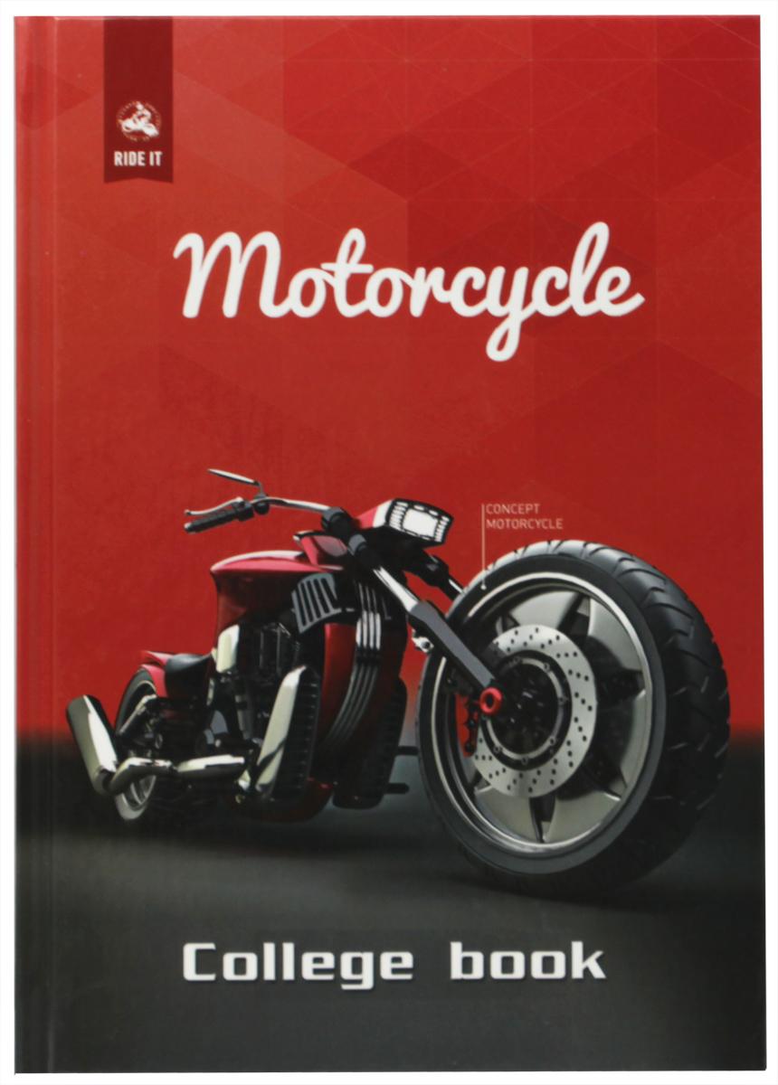 Бриз Тетрадь Мотоцикл 160 листов в клетку Бриз