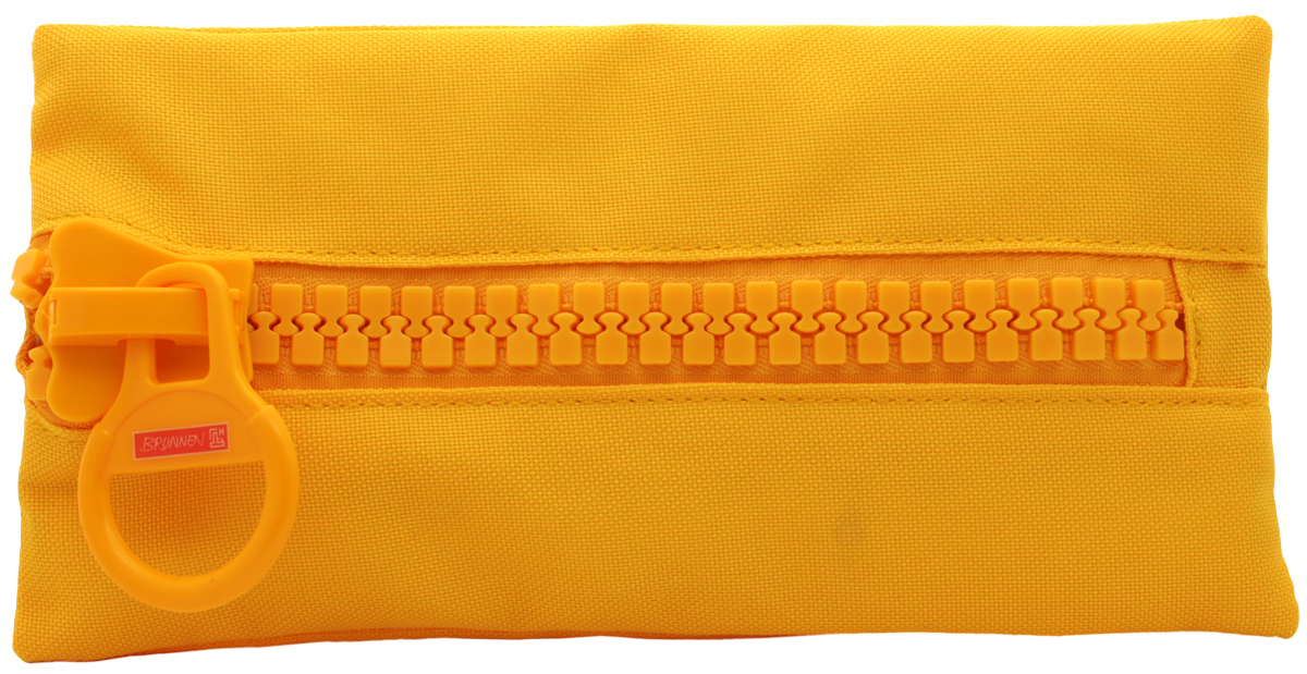 Brunnen Пенал BigZip цвет желтый49031-42\319734Пенал Brunnen BigZip изготовлен из качественного материала. Он удобен для разных мелочей и пишущих принадлежностей. Пенал застегивается на крупную пластиковую молнию.