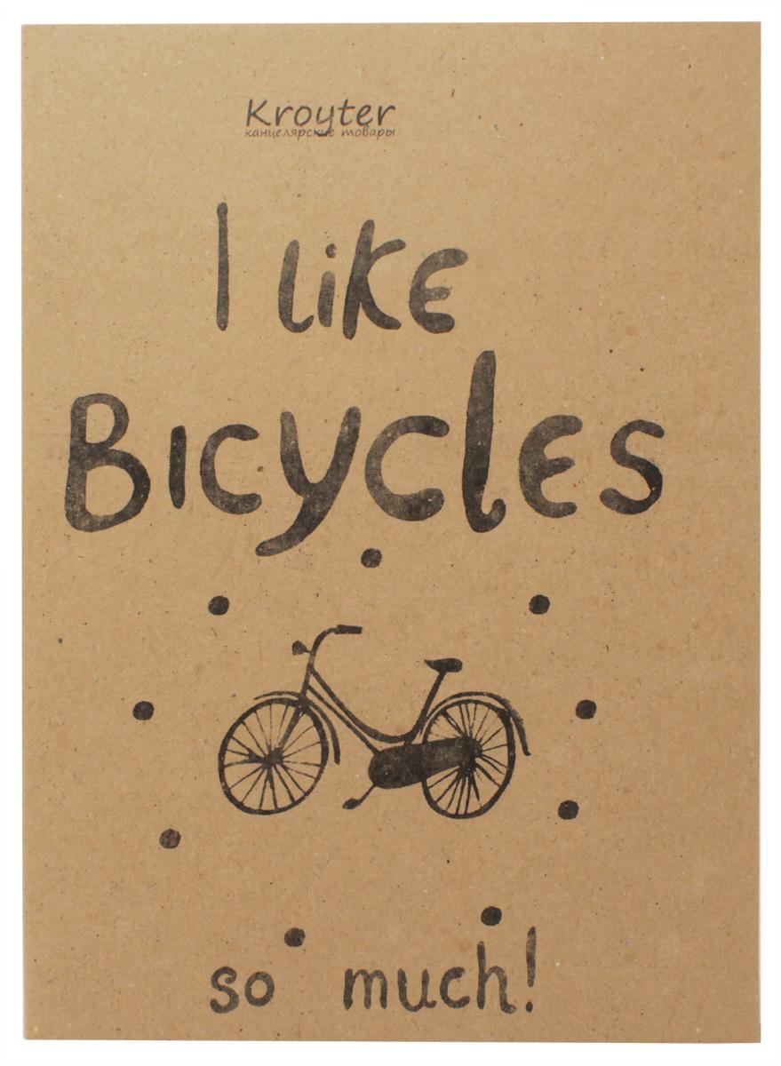 Kroyter Тетрадь I Like Bicycles 40 листов в линейку