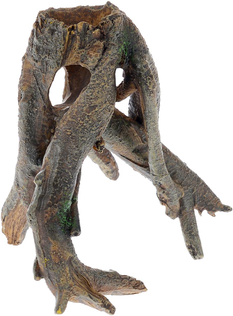 Декорация для аквариума Barbus Коряга, 12 х 8,5 х 12 смDecor 024Декорация для аквариума Barbus Коряга, выполненная из высококачественного нетоксичного полирезина, станет прекрасным украшением вашего аквариума. Изделие отличается реалистичным исполнением с множеством мелких деталей и отверстий. Ведь многие обитатели аквариума используют декорации как укрытия, в которых они живут и размножаются. Декорация абсолютно безопасна, нейтральна к водному балансу, устойчива к истиранию краски, подходит как для пресноводного, так и для морского аквариума. Благодаря декорациям Barbus вы сможете смоделировать потрясающий пейзаж на дне вашего аквариума или террариума.