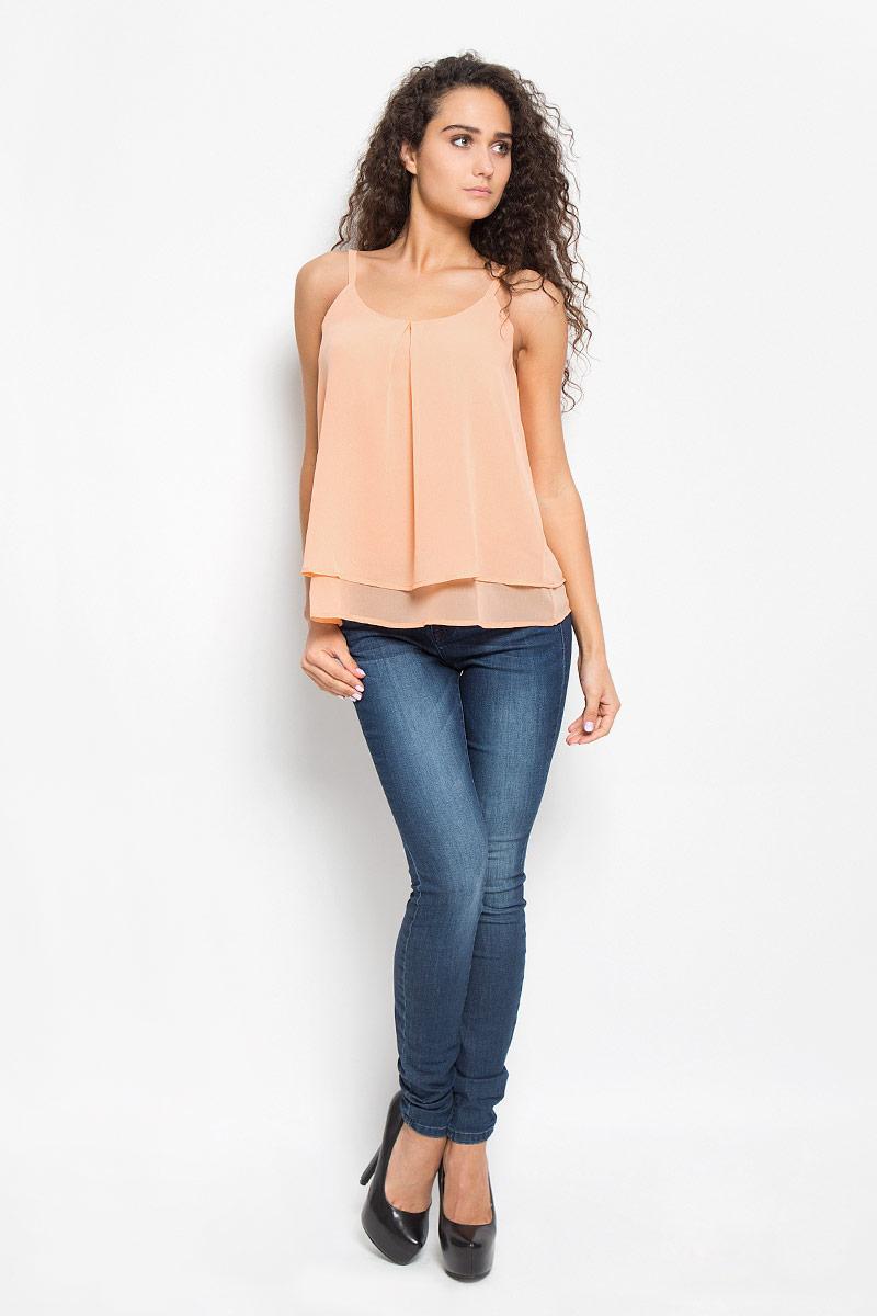 Блузка женская Tom Tailor, цвет: оранжевый. 2031927.00.75_4716. Размер 40 (46)2031927.00.75_4716Легкая очаровательная женская блуза Tom Tailor, выполненная из 100% полиэстера, подчеркнет ваш уникальный стиль и поможет создать оригинальный женственный образ.Модная блузка на бретельках с круглой горловиной выполнена в виде трапеции. Модель оформлена в лаконичном стиле, что придает ей большей элегантности. Такая блузка будет дарить вам комфорт в течение всего дня и послужит замечательным дополнением к вашему гардеробу.