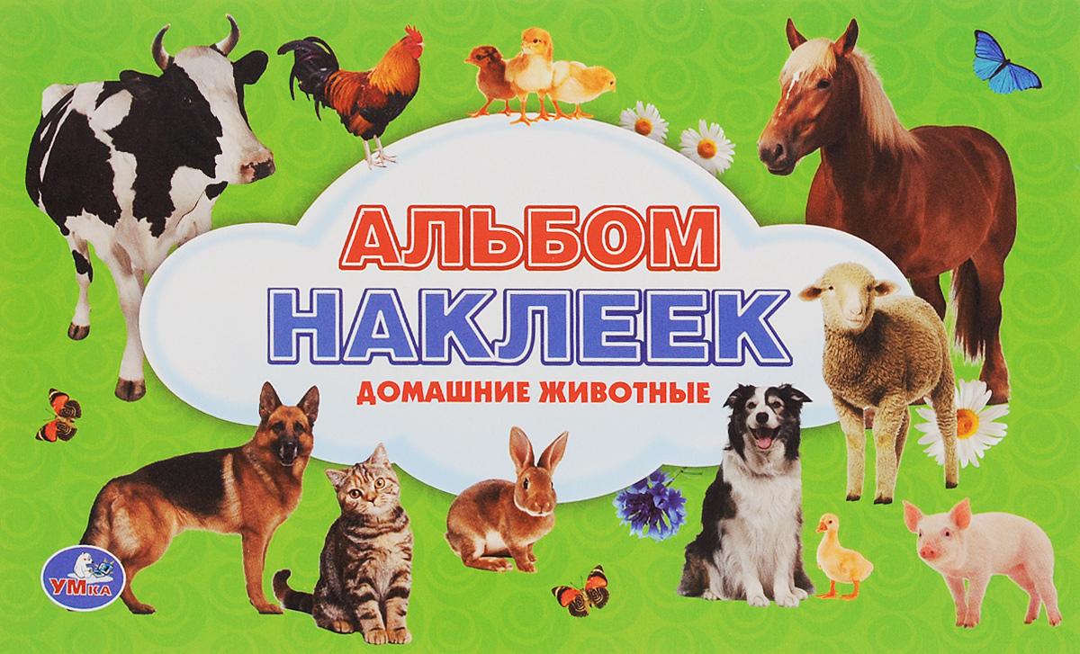 Домашние животные. Альбом наклеек животные антистресс альбом