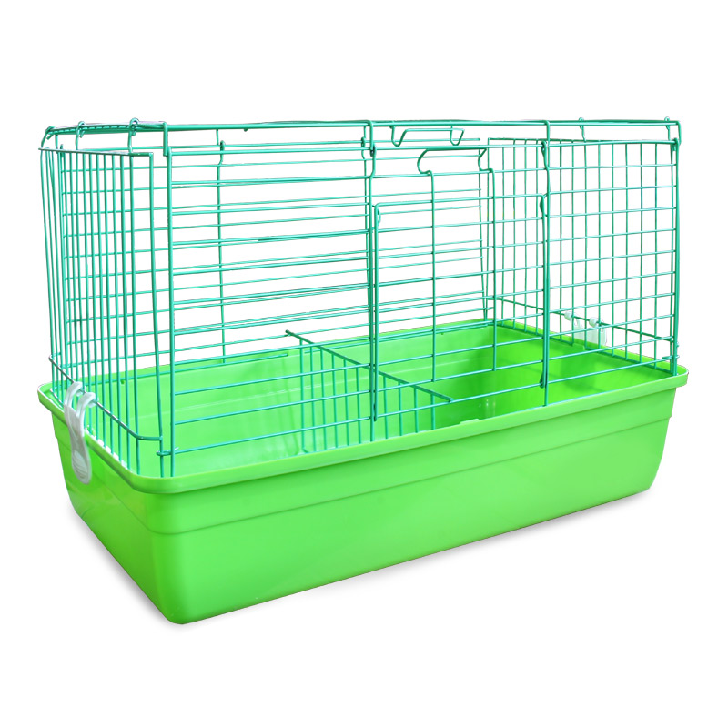 Клетка для кроликов Triol, цвет: салатовый, 59 см х 40 см х 36 смK-T1-1_салатовыйКлетка для кроликов Triol, выполненная из металла с эмалированным покрытием и пластика, предназначена для содержания вашего любимца. Клетка имеет прямоугольную форму, очень просторна, оснащена съемным поддоном. Она очень легко собирается и разбирается.Такая клетка станет для вашего питомца уютным домиком и надежным убежищем. Размер клетки: 59 см х 40 см х 36 см.
