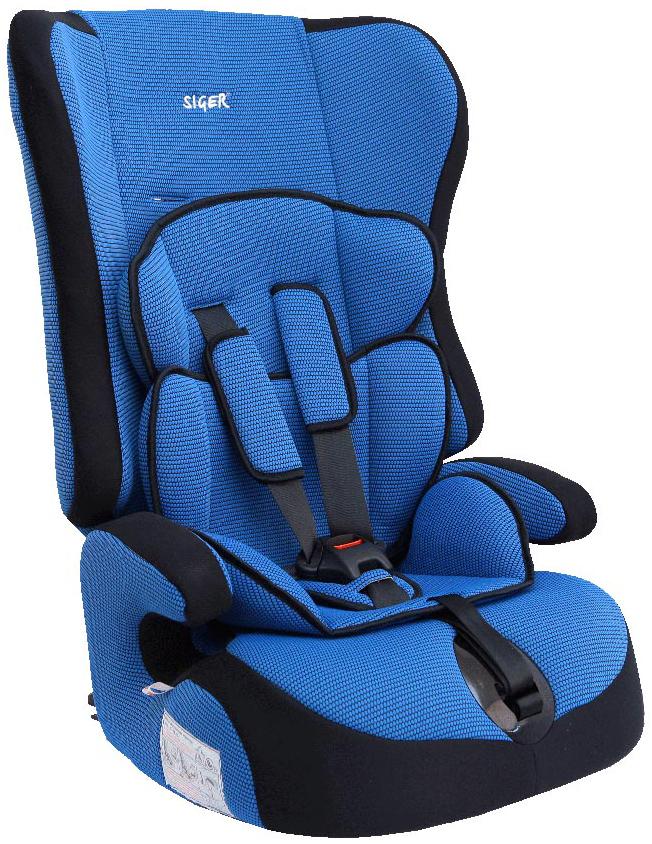 Siger Автокресло Прайм цвет синий от 9 до 36 кгKRES0005Детское автокресло Siger Прайм разработано для детей от 1 года до 12 лет, весом от 9 до 36 кг. Относится к возрастной группе 1/2/3.Отличительным свойством автокресла является его универсальность. При соответственном весе ребенка кресло может использоваться в течение 12 лет. Для удобства малышей от 1 до 4 лет автокресло оборудовано пятиточечным ремнем безопасности с регулировкой по глубине и высоте, мягким съемным вкладышем и мягкими накладками на ремни. Съемный чехол изготовлен из нетоксичного гипоаллергенного материала, который безопасен для малыша. Округлая форма сиденья не режет ножки ребенка и предохраняет их от затекания.Детские удерживающие устройства Siger разработаны и выполнены в России с учетом анатомии российских детей. Двухпозиционная регулировка центральной лямки позволяет адаптировать внутренние ремни под зимнюю и летнюю одежду ребенка.Автокресло успешно прошло все необходимые краш-тесты и имеет сертификат соответствия техническому регламенту РФ и таможенному союзу. В детском автомобильном кресле Siger ваш ребенок будет путешествовать в безопасности и с удовольствием!